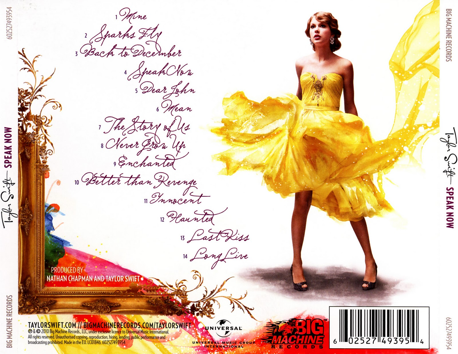 Taylor Swift Speak Now album cover back | sophiehibberd
